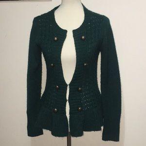 Green sweater cardigan size medium by a.n.a.
